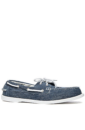 Plymouth Boat Shoe in Navy by Island Surf Company