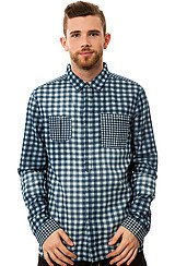 Clash Denim Checkered Chambray Shirt