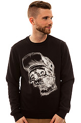 Thrash Crewneck Sweatshirt in Black