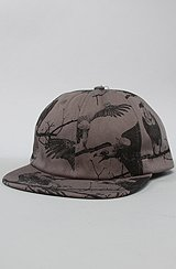 Buzzard 6 Panel Hat in Plum Kitten