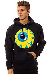 Keep Watch Pullover Hoodie in Navy
