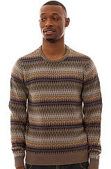 Lonerock Crewneck Sweater in Brown