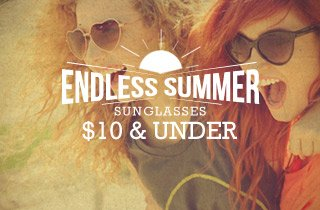Sunglasses $10 & Under