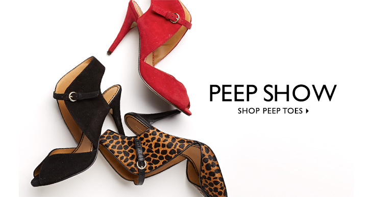 Click here to shop Peep Toes.