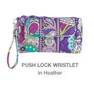 Push Lock Wristlet in Heather