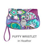Puffy Wristlet in Heather