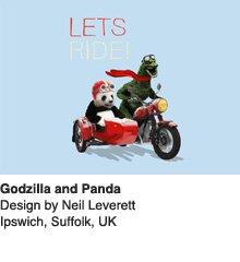 Godzilla and Panda