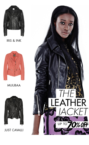 THE LEATHER JACKET UP TO 70% OFF