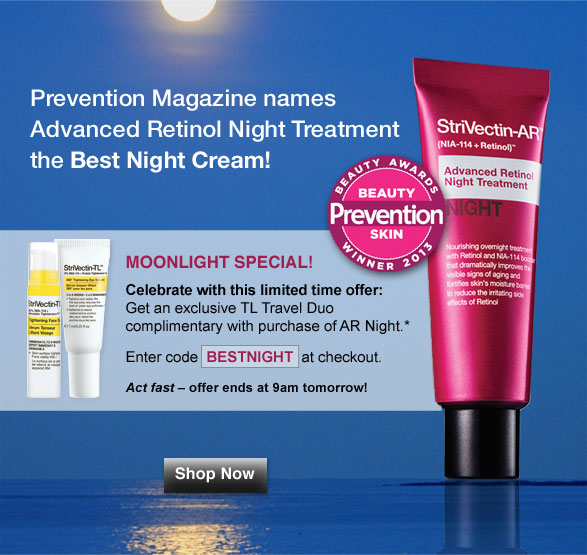 Prevention Magazine names Advanced Retinol Night Treatment the Best Night Cream!