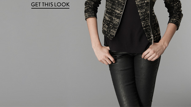 Boucle & Leather Blazer