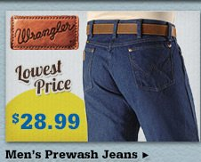 Mens Wrangler Prewash on Sale