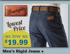 Mens Wrangler Rigids on Sale