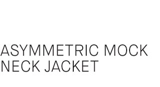 Asymmetric Mock Neck Jacket