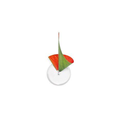 Manifold Clock // Green + Orange Leaf 14