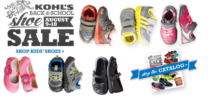 Kohl's Back-to-School Shoe Sale August 9-18. Shop kids' shoes.