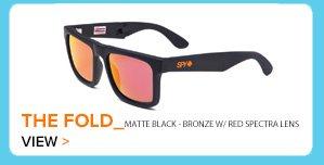 The Fold Matte Black Bronze W/Red Spectra Lens