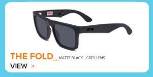 The Fold Matt Black Grey Lens