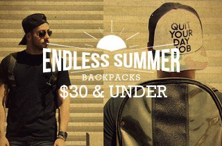 Backpacks & Bags $30 & Under