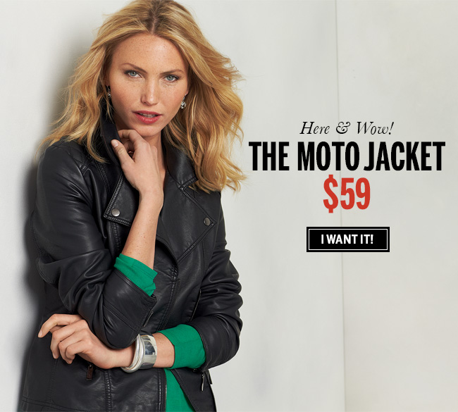 Here & Wow! The Moto Jacket $59. I want it!