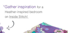 Gather inspiration for a Heather-inspired bedroom on Inside Stich!