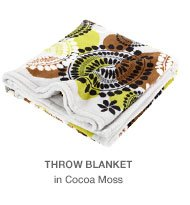 Throw Blanket in Cocoa Moss
