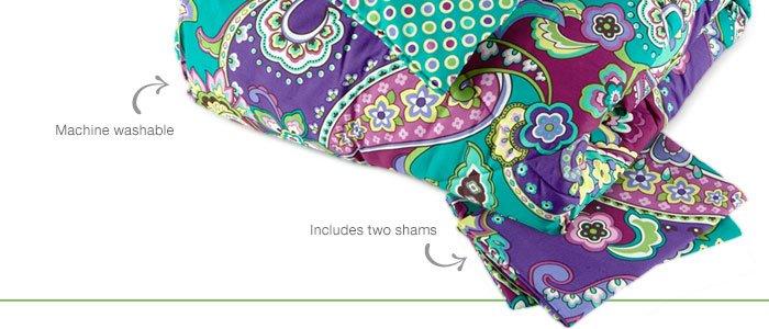 Reversible Comforter Set in Heather