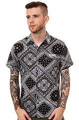 The Harris SS Buttondown Shirt in Black