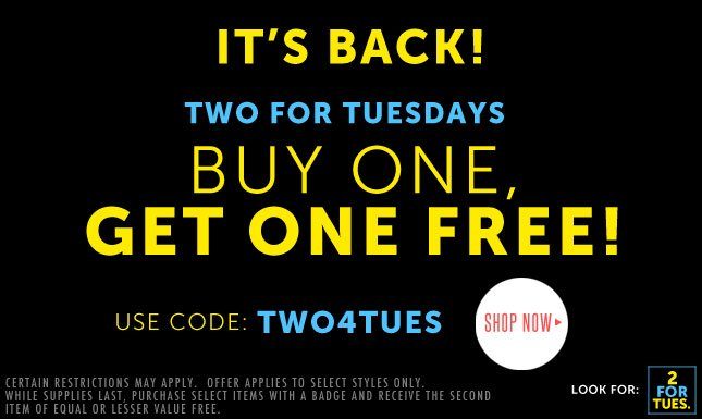 Two for Tuesdays is Back!