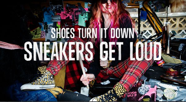SHOES TURN IT DOWN. SNEAKERS GET LOUD
