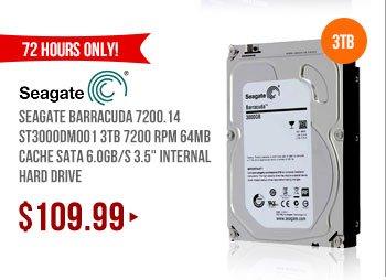 Seagate Barracuda 7200.14 ST3000DM001 3TB 7200 RPM 64MB Cache SATA 6.0Gb/s 3.5 inch Internal Hard Drive