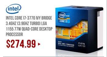 Intel Core i7-3770 Ivy Bridge 3.4GHz (3.9GHz Turbo) LGA 1155 77W Quad-Core Desktop Processor