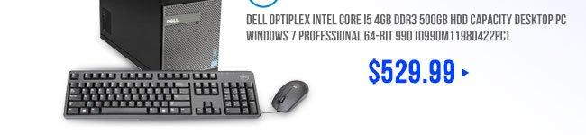 DELL OptiPlex Intel Core i5 4GB DDR3 500GB HDD Capacity Desktop PC Windows 7 Professional 64-Bit 990 (O990M11980422PC)