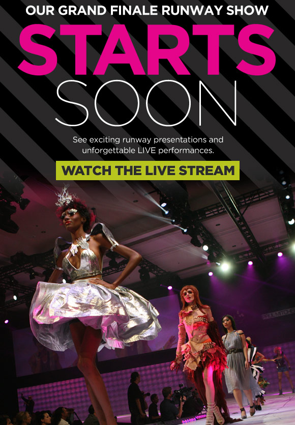 Our grand finale runway show starts soon. See exciting runway presentations and unforgettable LIVE performances. Special Performance by Vintage Trouble. Watch the Live Stream.