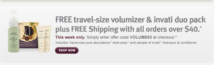 free travel size volumizer and unvati duo pack plus free shipping with all orders over $40. shop now.