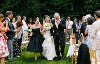 vera wang real wedding quaker