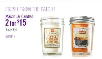 Mason Jar Candles – 2 for $15
