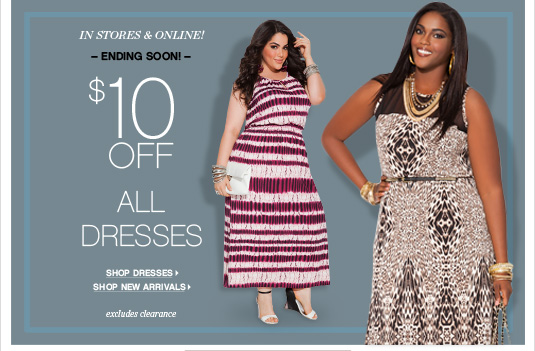 $10 Off Dresses
