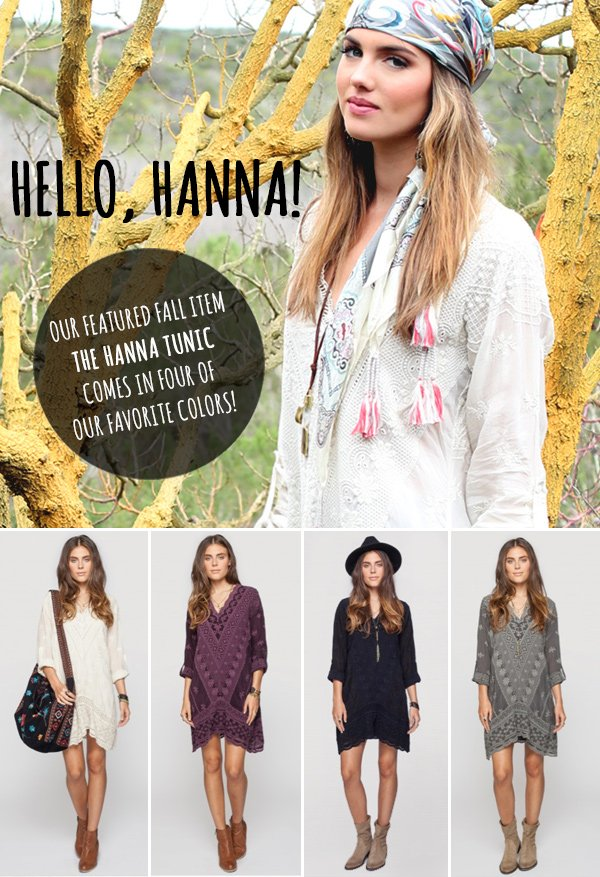 Hello, Hanna! Our Featured Fall Style Four Ways...