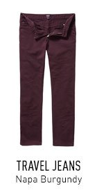 Travel Jeans Burgundy