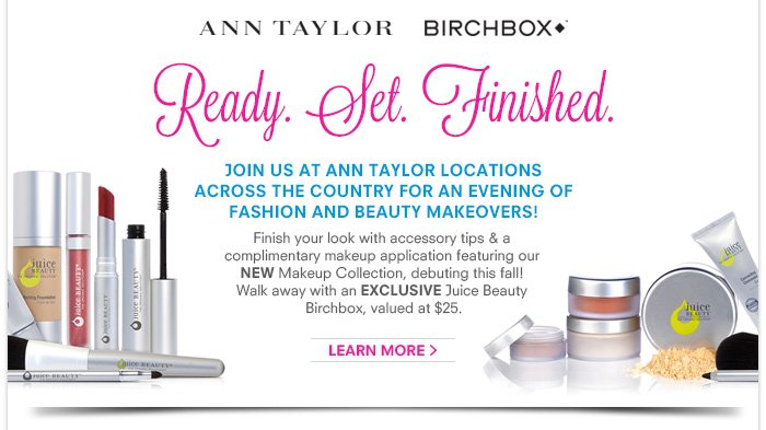 Join us at Ann Taylor locations across the country for an evening of Fashion and Beauty Makeovers!