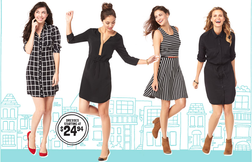 DRESSES STARTING AT $24.94