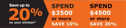 Save up to 20% on your kitchen