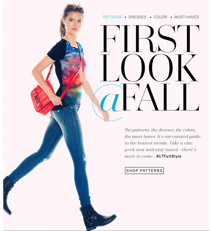 First Look @ Fall. Shop Patterns.