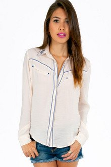 WESTERN BUTTON FRONT TOP 39