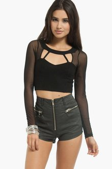 CUT TO THE MESH CROP TOP 25