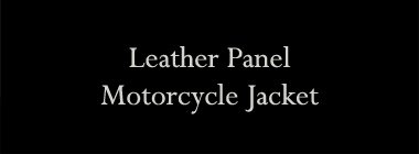 Leather Panel Motorcycle Jacket
