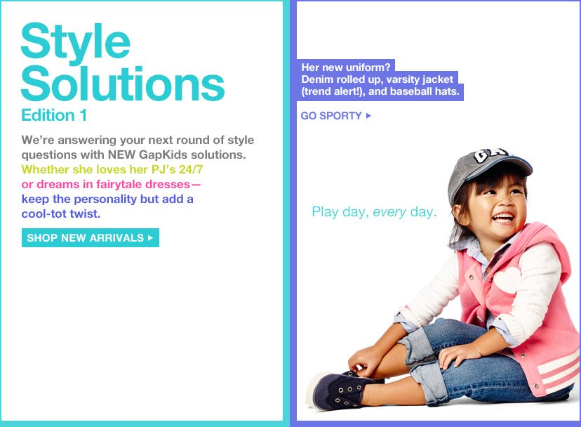 Style Solutions | Edition 1 | SHOP NEW ARRIVALS | GO SPORTY
