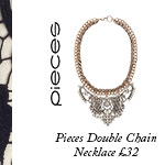 Pieces Double Chain Necklace