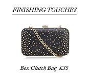 Diamante Box Clutch Bag