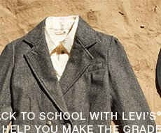 Go back to school with Levi's®. We'll help you make the grade.